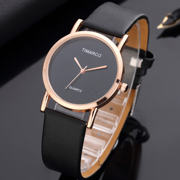 Simple Style Red Black Minimalist Watches Women Fashion Watch Ladies Casual Wristwatch Female Dress Leather Clock Montre Femme Fashion Life & Accessories Iwatch & Accessories