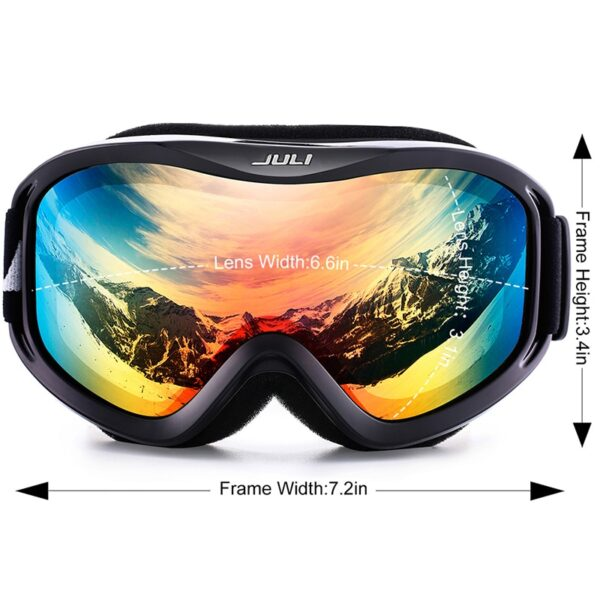 Ski Goggles,Snow Sports Snowboard Over Glasses Goggles with Anti-fog UV Protection Double Lens for Men Women & Youth Snowmobile Ski Shop