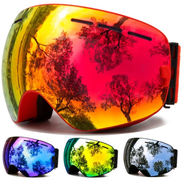 Ski Goggles,Winter Snow Sports Goggles with Anti-fog UV Protection for Men Women Youth Interchangeable Lens – Premium Goggles Ski Shop