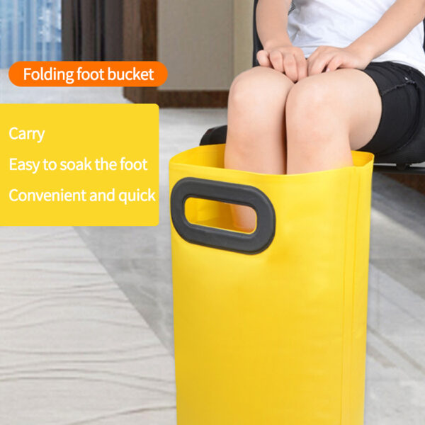 Solid Foot Soaking Bag Foldable Outdoor Foot Bath Sink Multifunctional Waterproof Washbasin Bucket For Travel And Business Swimming