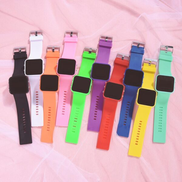 Sport Digital Watch Women Men Square LED Watch Silicone Electronic Watch Women's Watches Clock Can Be Used As A Mirror Clock Fashion Life & Accessories Iwatch & Accessories