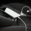 Square LED Dual USB Car Charger 2 Port Fast Charging Adapter Color Charger White Universal Black Choose Cigarette Lighter C Z0F2 Car accessories