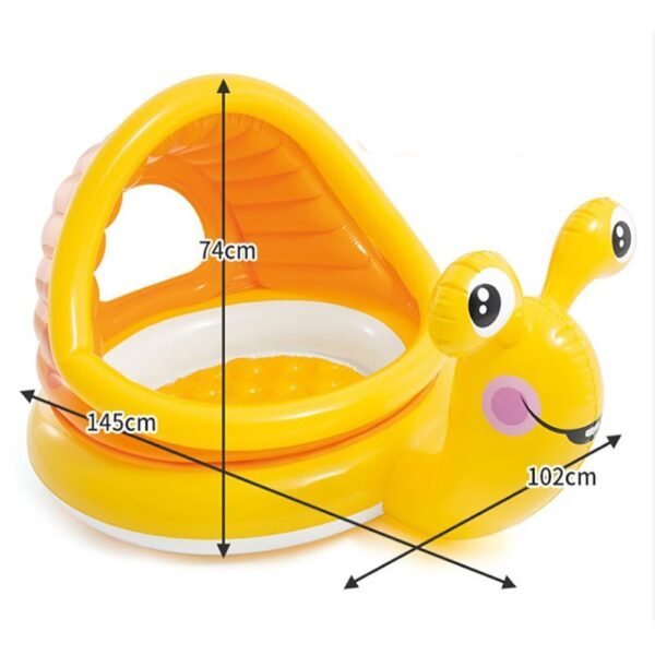 Summer Baby Swimming Ring With Sunshade Pool Float Inflatable Swimming Circle Floating Baby Seat Swimming Pool Toys Summer Party Swimming