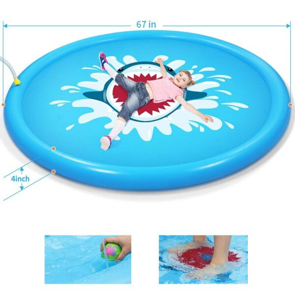 Summer Children'S Baby Play Water Mat Games Beach Pad Inflatable Spray Water Cushion Outdoor Tub Swiming Pool Water Cushion Toys Swimming
