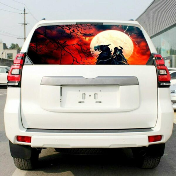 Surprising Pickup 3D Truck Rear Windshield Poster Rear Sticker Unique Car Scary Decal Poster Windshield Thriller Accessorie O9U4 Car accessories