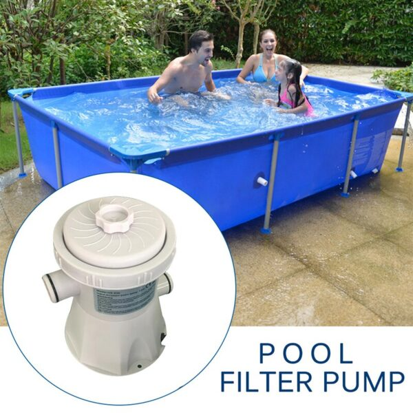 Swimming Pool Electric Filter Pump Large Pool Cartridge Gallon Removable Filter Element Circulating Pump Kits Above Ground Swimming