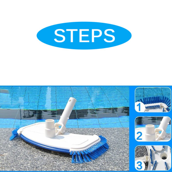 Swimming Pool Vacuum Cleaner Cleaning disinfect Tool Suction Head Pond Fountain Spa Pool Vacuum Cleaner Brush with handle EU/US Swimming