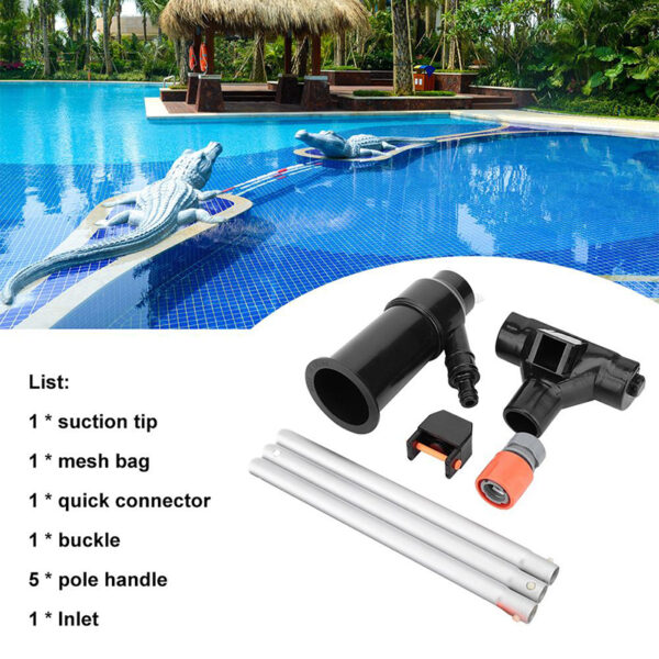 Swimming Pool Vacuum Cleaner Set Pool Spa Pond Floating Objects Suction Fountain Pond Head Vacuum Brush Cleaner Cleaning Tools Swimming