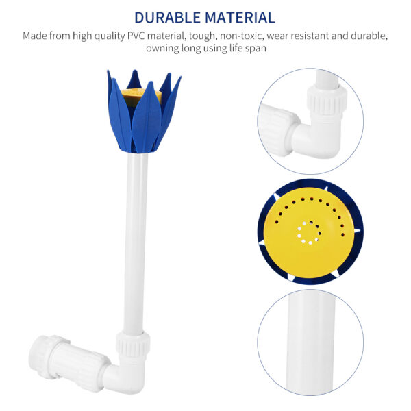 Swimming Pool Waterfall Sprayer Lotus Flower Pond Fountain Nozzle Accessories Used In Above Ground And In Ground Pools Ground Swimming