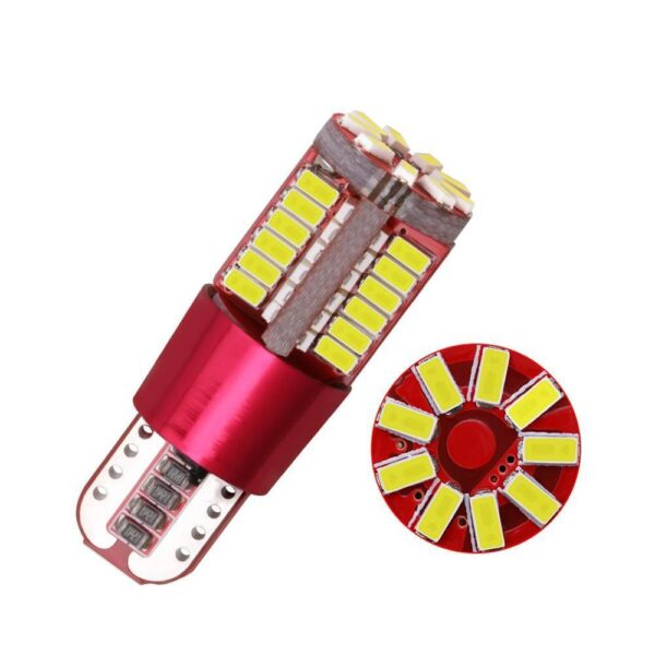 T10 168 192 W5W 57 SMD 3014 LED Canbus No Error Car Lamp Marker Red White 57smd Wedge Bulb Light Parking Blue Yellow Motor V5S5 Car accessories