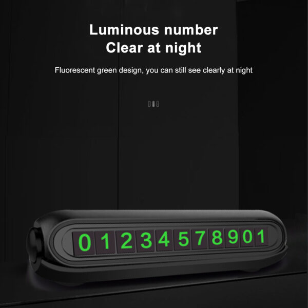 Temporary Car Parking Card with Aromatherapy Telephone Number Card Night Light Car Styling Phone Number Card Hidden Number Plate Car accessories