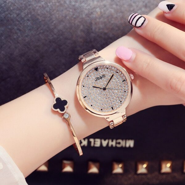 Top Brand Luxury Crystal Women Watches Stainless Steel Rose Gold Fashion Woman Watch Ladies Casual Wristwatch Female Clock #3TWL Fashion Life & Accessories Iwatch & Accessories