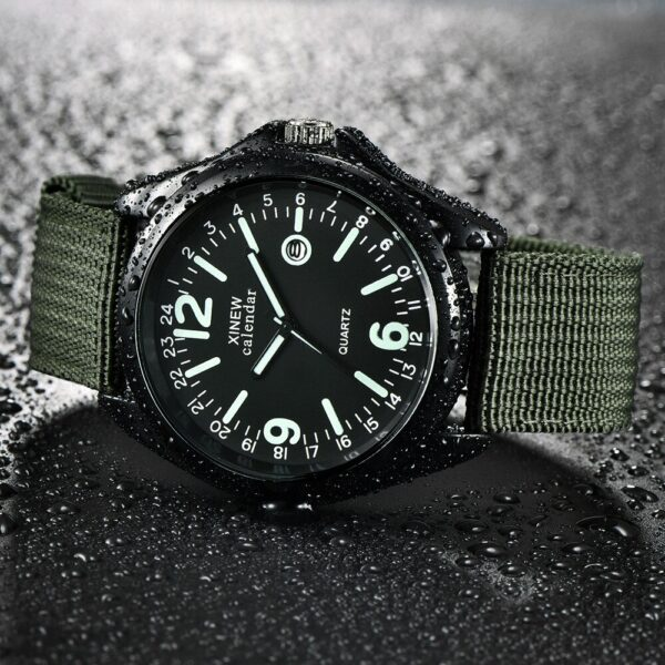 Top Brands Men Luminous Watches Military Mens Casual Nylon Strap Quartz Army Watch Black Dial Date Luxury Sport Wrist Watch Gift Fashion Life & Accessories Iwatch & Accessories