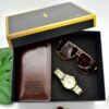 Top Quality Stainless Steel Watch Luxury Quartz Wristwatches Business Casual Watch for Man Clock Long wallet sunglasses Gift Box Fashion Life & Accessories Iwatch & Accessories