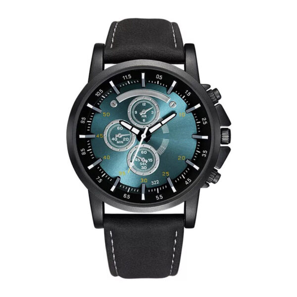 Top quality large dial men's fashion casual quartz watch belt set Christmas personalized gift box Wrist Watch For boy men gift Fashion Life & Accessories Iwatch & Accessories