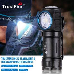 TrustFire MC12 EDC Led Flashlight 1000LM Magnetic USB Charging Head Rechargeable Powerful Camping Lantern Torch Lamp Flash Light Fashion Life & Accessories
