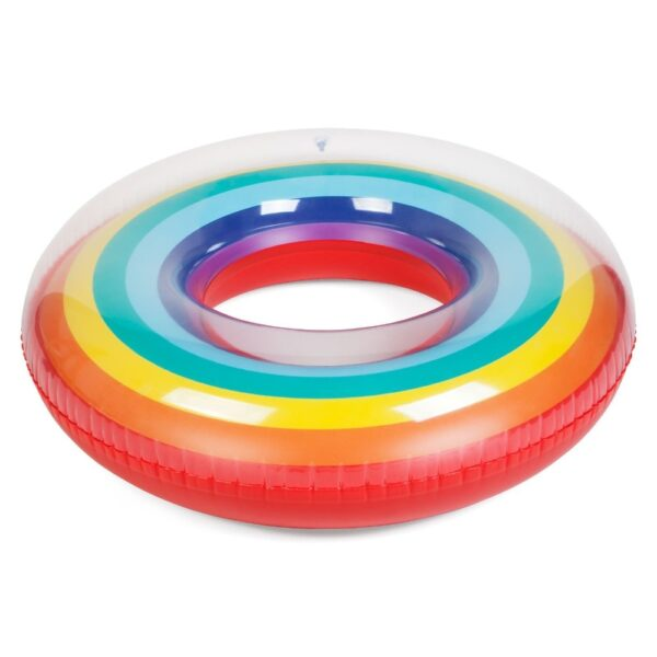 Tube Giant Rainbow Watermelon Swimming Ring For Adult Children 2018 Summer Inflatable Pool Float Water Toys Piscina Swimming
