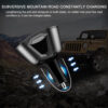 Universal 12V-24V Car Splitter Cigarette Lighter Socket Power Adapter 3.1A Dual USB Car Charger 120W Output with Voltage display Car accessories