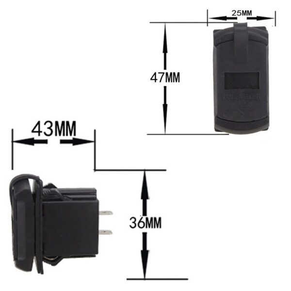 Universal Car Charger 12V 24V 4.2A Display Voltage Waterproof Dual USB Ports Auto Adapter Phone Charger For Iphone Huawei Xiaomi Car accessories