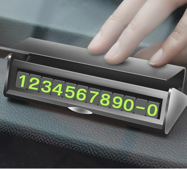 Universal Luminous Telephone Number Card Hidden Phone Number Plate 3D Mobile Card Plates Car Sticker Car Temporary Parking Card Car accessories