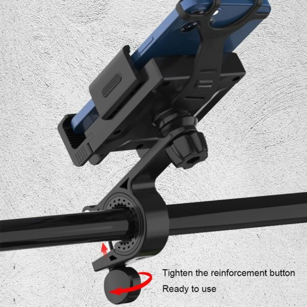 Universal Motor Bike Bicycle Motorcycle Cell Phone Holder Phone 360 Degrees Rotation Shockproof Support Bracket Stand for Iphone Car accessories
