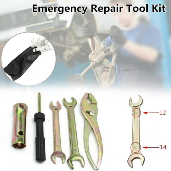 Universal Motorcycle Repair Tool Motorbike Wrench Tools Kit Screwdriver Pliers Sleeve Wrenches Spark Plug Accessories V8A3 Car accessories