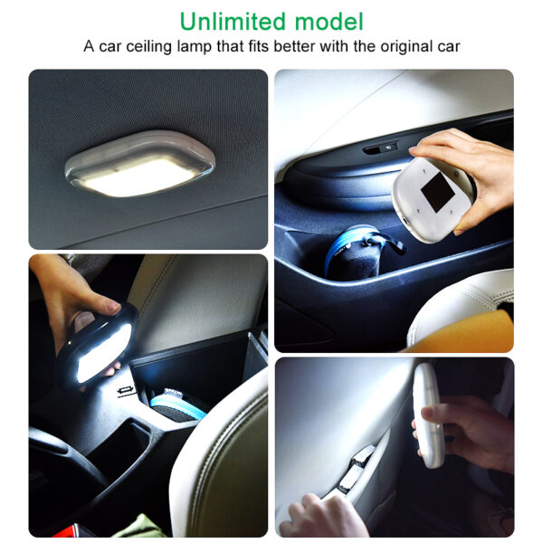 Universal USB Charging White LED Car Reading Light Interior Roof Doom Lamp Magnetic LED Car Touch Type Car Styling Night Light Car accessories