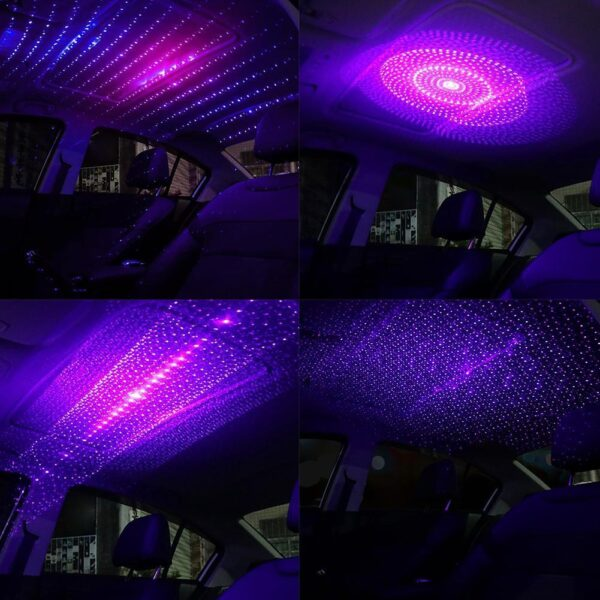 Usb Car Atmosphere Light Star Sky Lamp Ambient Star Car Accessories Light Night Car Ceiling Interior Lights Starry T0G0 Car accessories
