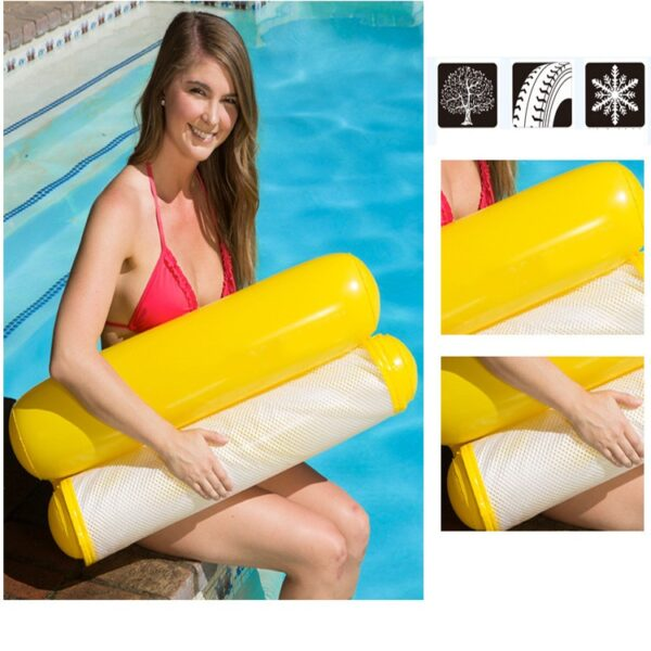 Water hammock recliner inflatable floating Swimming Mattress sea swimming ring Pool Party Toy lounge bed for swimming Swimming
