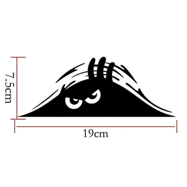 Waterproof Self-adhesive Car Sticker Scratch Cover Decal Auto Decoration Funny Peeking 3D Big Eyes Sticker Car Styling Car accessories