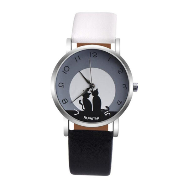 Wholesale Men Women relogios Lovely Cat Quartz Analog Arabic Numbers Party Date Couple Wrist Watch reloj bayan saat HOT Fashion Life & Accessories Iwatch & Accessories