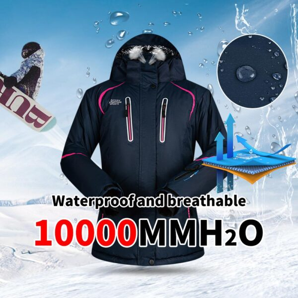 Winter Ski Suit Women Brands Ski Jacket and Pant Super Warm High Quality Windproof Waterproof Warm Skiing and Snowboard Clothing Ski Shop