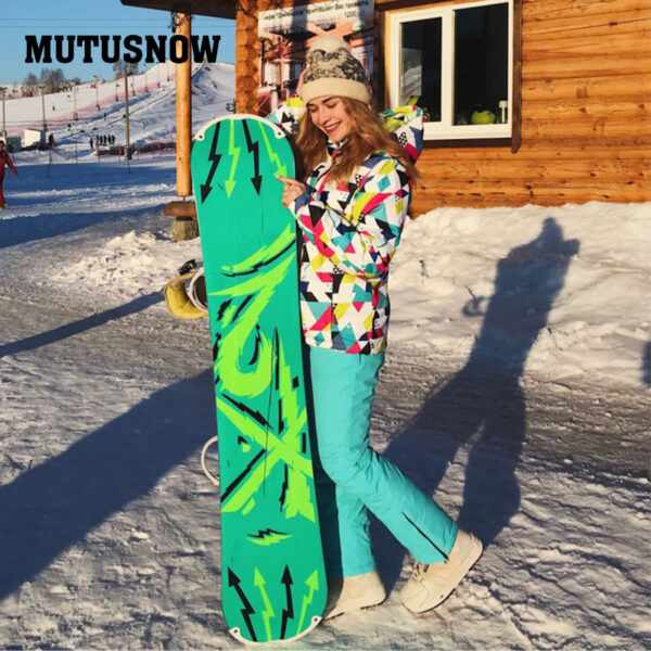Winter Ski Suit Women New Touch Screen Gloves Waterproof Warm Ski Jackets and Pants for Women Skiing and Snowboarding Suits Ski Shop