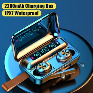 Wireless Bluetooth Headphones With Mic TWS Earphone Touch Control 9D Stereo Headset IPX7 Waterproof Sport Earphones LED Display Bluetooth headphones