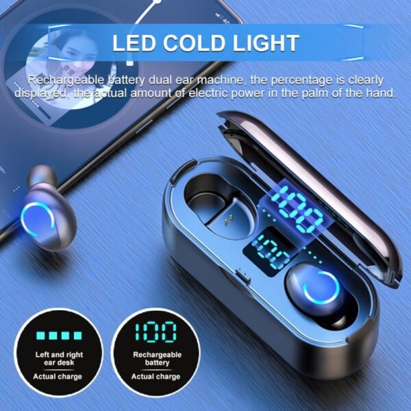 Wireless Headphones TWS Bluetooth Earphones 5.0 with Mic Sports Waterproof Headsets Touch Control Mini In-ear Music Earbuds Bluetooth headphones