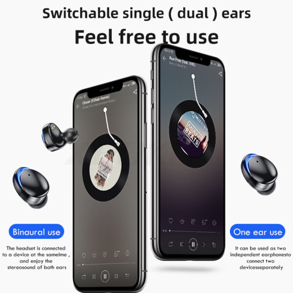 Wireless Headphones With Mic 3000mAh Charging Box Bluetooth 5.0 Earphones Sport Waterproof Headsets Touch Control 9D HiFi Earbud Earbuds