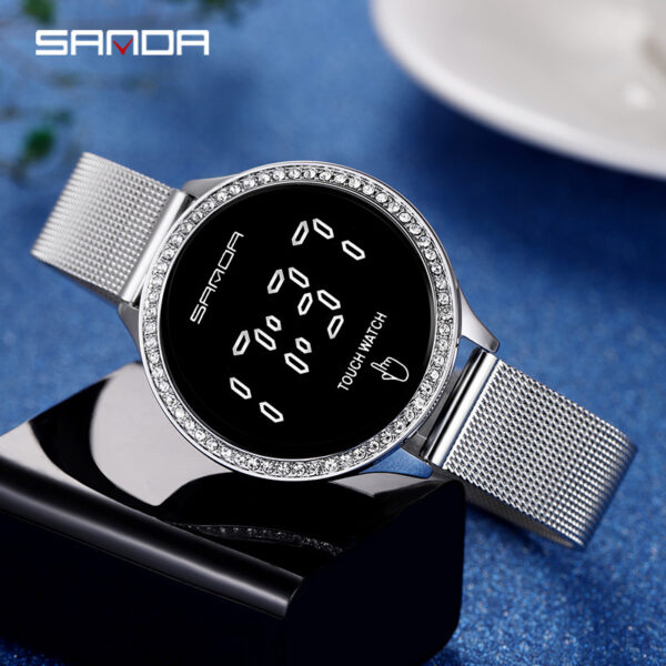 Women For Digital Watches Lady For Watch Fashionable Business Style Mesh Belt Women's Watch Clothes Accessories Lady Gift Clocks Fashion Life & Accessories Iwatch & Accessories
