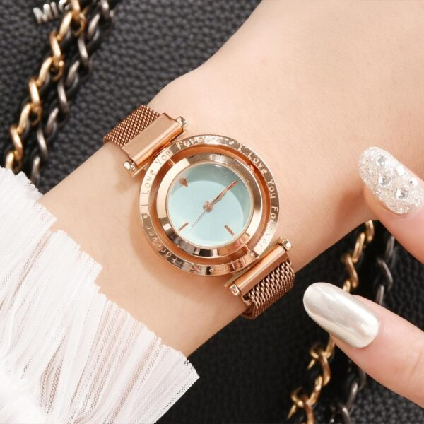 Women Magnetic Watches Rotate Dial Fashion Ladies Quartz Clock Magnet Buckle Casual Business Party Girls Gift Wristwatch Fashion Life & Accessories Iwatch & Accessories