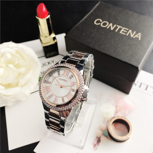Women Watches Fashion Diamond Design Silver Round Dial Stainless Steel Band Quartz Wrist Watch Gold Gifts relogiosfeminino Fashion Life & Accessories Iwatch & Accessories
