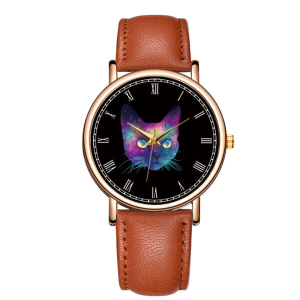 Womens Watches Cat Cartoon Fashion Leather Analog Quartz Wrist Watch ladies Leather Strap Clock Couple Watches reloj mujer Fashion Life & Accessories Iwatch & Accessories