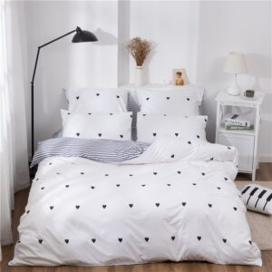 X-1004 Printed Solid bedding sets Home Bedding Set 4-7pcs High Quality Lovely Pattern with Star tree flower Bedrooms