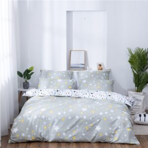X-1005 Printed Solid bedding sets Home Bedding Set 4-7pcs High Quality Lovely Pattern with Star tree flower Bedrooms