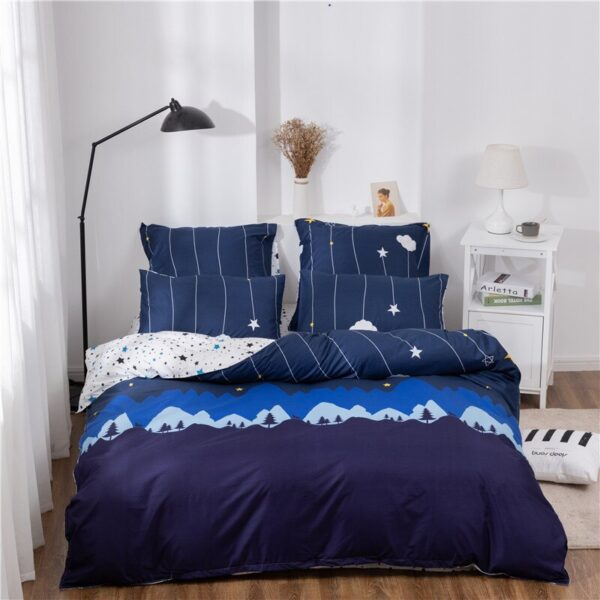 X-1010 Printed Solid bedding sets Home Bedding Set 4-7pcs High Quality Lovely Pattern with Star tree flower Bedrooms