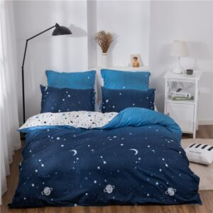 X-1016 Printed Solid bedding sets Home Bedding Set 4-7pcs High Quality Lovely Pattern with Star tree flower Bedrooms