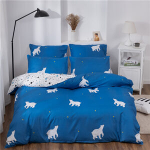 X-1017 Printed Solid bedding sets Home Bedding Set 4-7pcs High Quality Lovely Pattern with Star tree flower Bedrooms