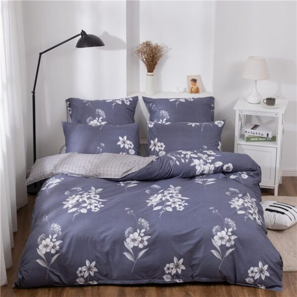 X-1018 Printed Solid bedding sets Home Bedding Set 4-7pcs High Quality Lovely Pattern with Star tree flower Bedrooms