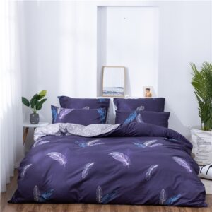 X-1020 Printed Solid bedding sets Home Bedding Set 4-7pcs High Quality Lovely Pattern with Star tree flower Bedrooms