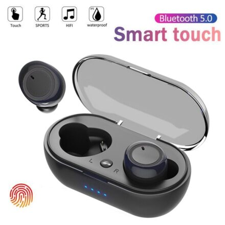 Y50 bluetooth earphone 5.0 TWS Wireless Headphons earphones Earbuds Stereo Gaming Headset With Charging Box for all smart phone Earbuds