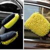 Yellow Car Wash Glove Coral Mitt Soft Absorbancy Glove High Car Cleaning Cleaning Glove Tools Thick Wash Car D9Z8 Car accessories