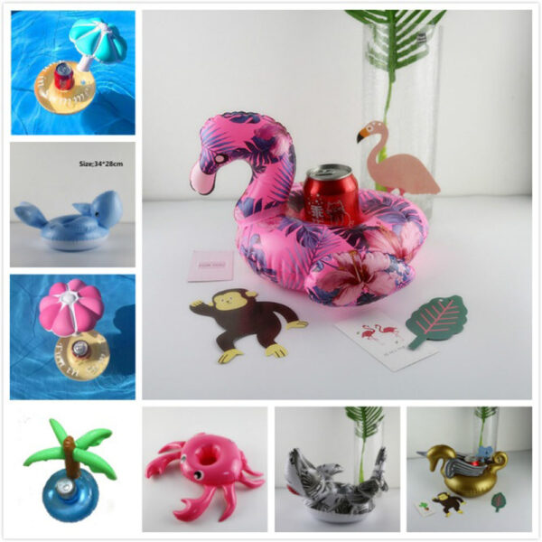 diamond ring Floating Flamingo Cup Holder Pool Swim Ring Water Toys Party Boats Baby Pool Toys Inflatable Unicorn Drink Holders Swimming